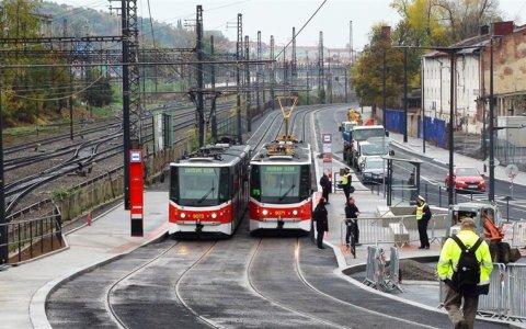 V Praze dokončili rekonstrukci tramvajové tratě v Nádražní ulici
